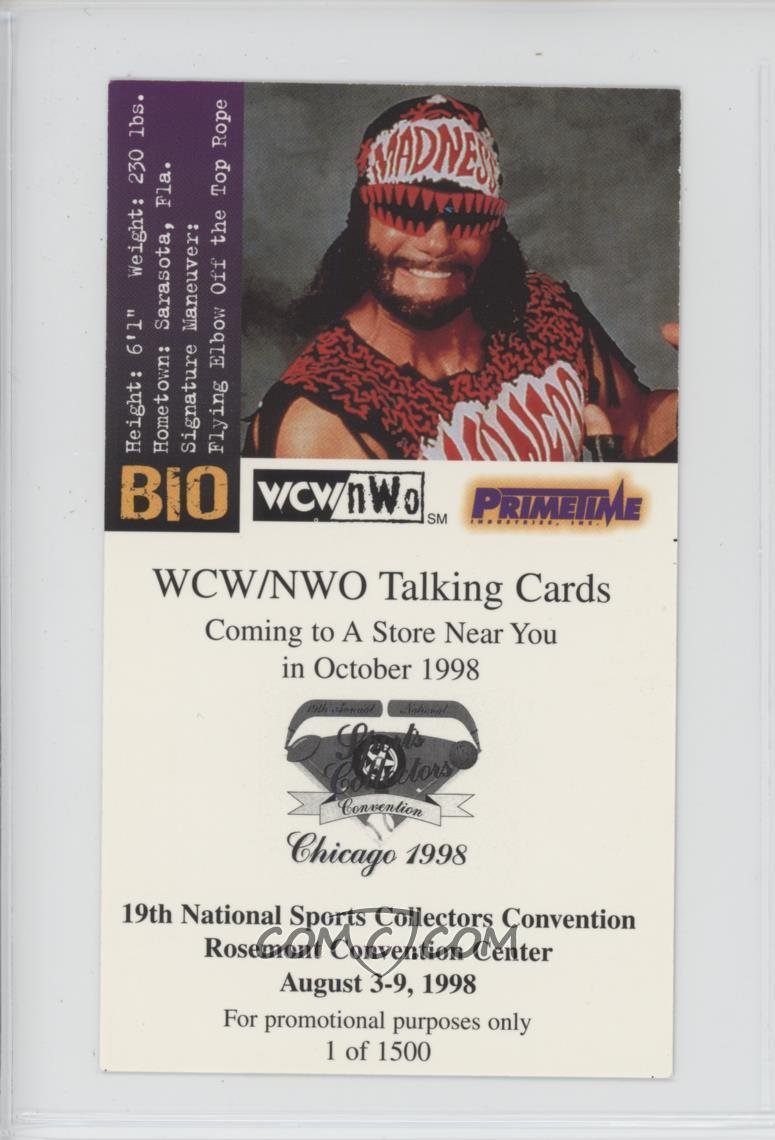 1998 Primetime Wcwnow Talking Cards National Convention Promos