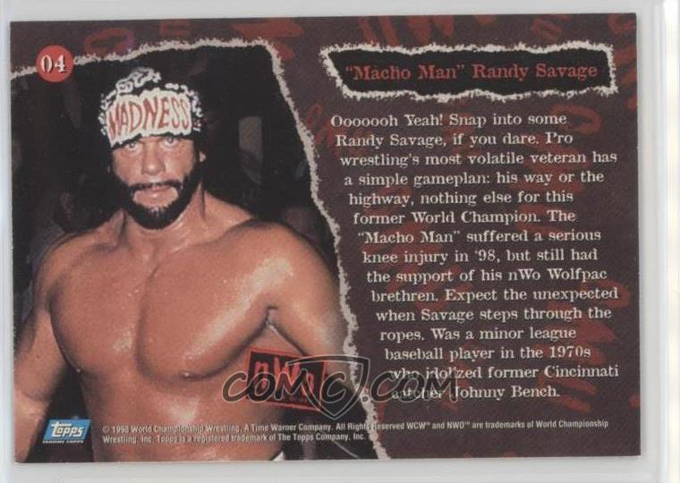 1998 Topps Wcwnwo Base 04 Randy Savage
