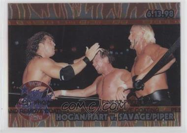 1999 Topps WCW/nWo Nitro - Chrome #C6 - Hogan/Hart V. Savage/Piper (Great American Bash)