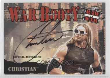 2001 Fleer WWF Raw is War - War Booty Autographs #N/A - Christian