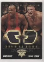 Kurt Angle, Brock Lesnar