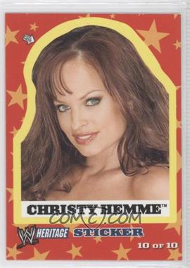 2005 Topps Heritage WWE - Stickers #10 - Christy Hemme