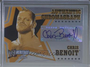 2006 Topps Chrome WWE Heritage - Authentic Chromograph #CHBE - Chris Benoit