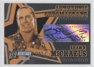 2006 Topps Chrome WWE Heritage - Authentic Chromograph #SHMI - Shawn Michaels