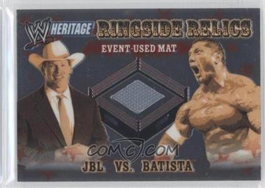 2006 Topps Chrome WWE Heritage - Ringside Relics #JBBA - JBL, Batista