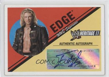 2006 Topps Heritage II WWE - Autographs #ED - Edge