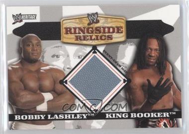 2006 Topps Heritage II WWE - Ringside Relics Mats #BLKB - Bobby Lashley, King Booker