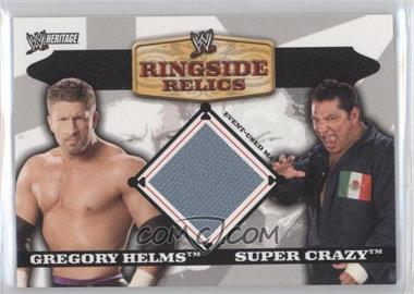 2006 Topps Heritage II WWE - Ringside Relics Mats #GHSC - Gregory Helms, Super Crazy