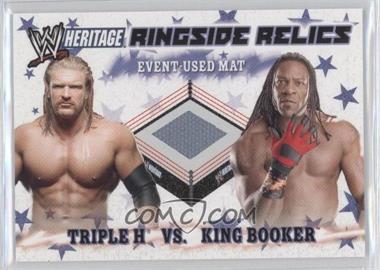 2007 Topps Heritage III WWE - Ringside Relics #THKB - Triple H, King Booker