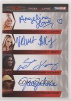 Angelina Love, Velvet Sky, Awesome Kong, Jacqueline #/25