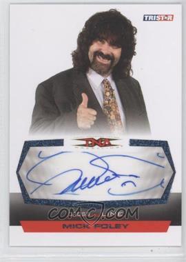 2008 TRISTAR TNA Wrestling Cross the Line - Autographs - Blue #C-MF - Mick Foley /5