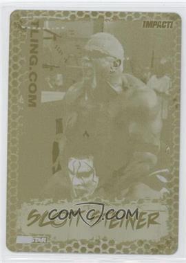 2008 TRISTAR TNA Wrestling Impact! - [Base] - Printing Plate Yellow #12 - Scott Steiner /1