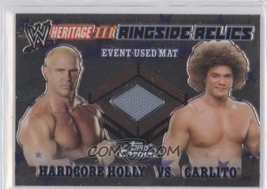 2008 Topps WWE Heritage Chrome - Ringside Relics #HHCA - Hardcore Holly, Carlito