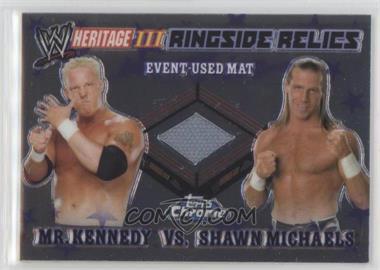 2008 Topps WWE Heritage Chrome - Ringside Relics #MKSM - Mr. Kennedy, Shawn Michaels