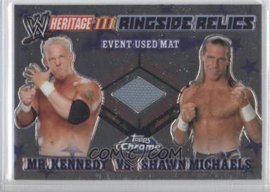 2008 Topps WWE Heritage Chrome - Ringside Relics #MKSM - Mr. Kennedy, Shawn Michaels
