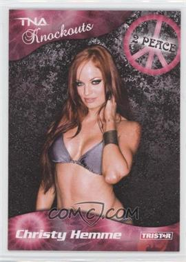 2009 TRISTAR TNA Wrestling Knockouts - [Base] #22 - Christy Hemme