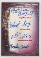 Angelina Love, Velvet Sky, Awesome Kong, Raisha Saeed #/25