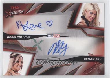 2010 TRISTAR TNA Xtreme - Dual Autographs - Green #X2-24 - Angelina Love, Velvet Sky /25