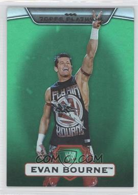 2010 Topps Platinum WWE - [Base] - Green #21 - Evan Bourne /499