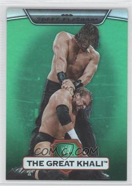 2010 Topps Platinum WWE - [Base] - Green #26 - The Great Khali /499