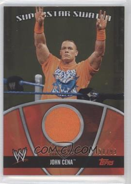 2010 Topps WWE - Superstar Swatches - Gold #S-N/A - John Cena /99