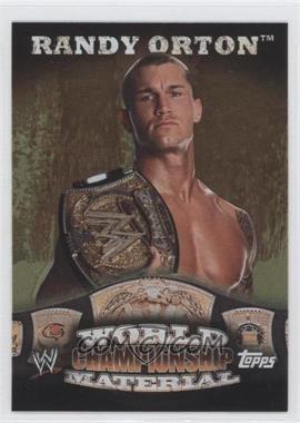 2010 Topps WWE - World Championship Material - Puzzle Back #RAOR - Randy Orton