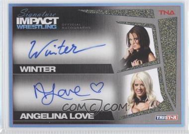 2011 TRISTAR TNA Signature Impact Wrestling - Autographs Dual - Gold #S2-25 - Winter, Angelina Love /25