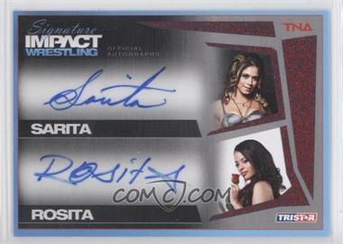 2011 TRISTAR TNA Signature Impact Wrestling - Autographs Dual - Red #S2-8 - Sarita, Rosita /5