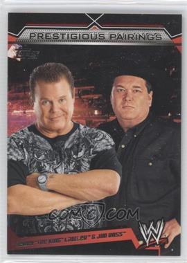 2011 Topps WWE - Prestigious Pairings #PP-4 - Jerry Lawler, Jim Ross