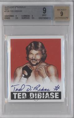 2012 Leaf Originals Wrestling - [Base] - Red #TDB - Ted DiBiase /10 [BGS 9]
