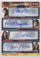 Gail Kim, Mickie James, Tara, Velvet Sky /25
