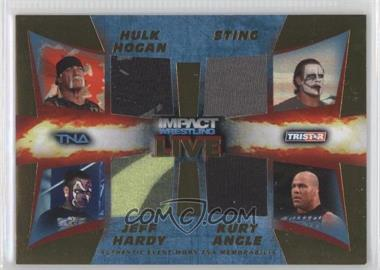 2013 TRISTAR TNA Impact Wrestling Live - Quad Memorabilia - Gold #M13 - Hulk Hogan, Sting, Jeff Hardy, Kurt Angle /50