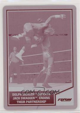 2013 Topps Best of WWE - [Base] - Printing Plate Magenta #20 - Dolph Ziggler Defeats Jack Swagger, Ending Their Partnership /1