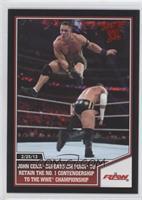 John Cena defeats CM Punk to retain the No. 1 contendership...