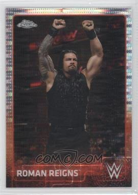 2015 Topps Chrome WWE - [Base] - Pulsar Refractor #59 - Roman Reigns /75