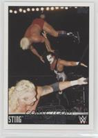 Sting competes in a four corners WCW championship match