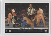 Sting & Les Luger & Diamond Dallas Page Face Ric Flair & Bret