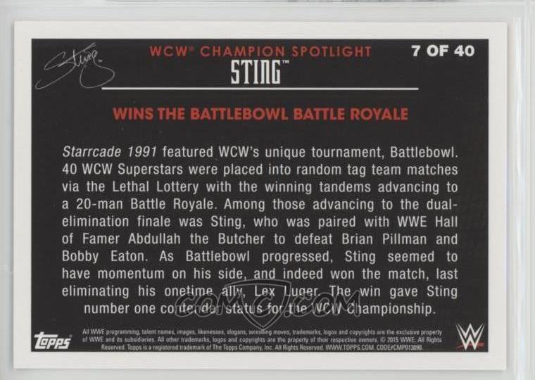 2015 Topps WWE - Wal-Mart Exclusive Sting Tribute #7 - Sting Wins