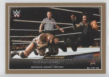 2015 Topps WWE Road to Wrestlemania - [Base] - Gold #43 - Roman Reigns /10
