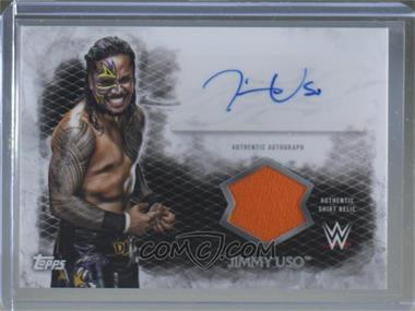 2015 Topps WWE Undisputed - Undisputed Attitude Autographed Relics #UAR-JU - Jimmy Uso