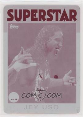 2016 Topps Heritage WWE - [Base] - Printing Plate Magenta #17 - Jey Uso /1 [EX to NM]