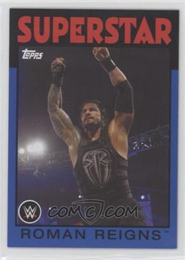 2016 Topps Heritage WWE - [Base] - United States Championshi Blue #29 - Roman Reigns /25