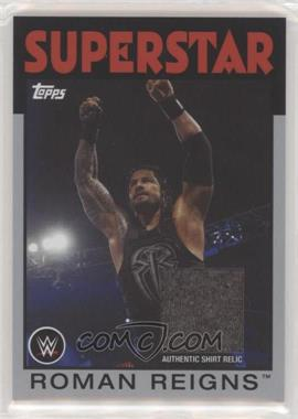 2016 Topps Heritage WWE - Relics - Silver #RORE - Roman Reigns /50
