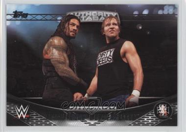 2016 Topps WWE - Perspectives - Authority Files #13A - Roman Reigns, Dean Ambrose