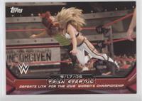 Trish Stratus - Defeats Lita for the WWE Women's Championship #/25