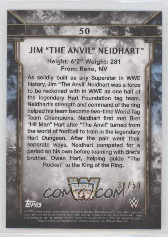 2017 Topps Legends of the WWE - [Base] - Blue #50 - Jim