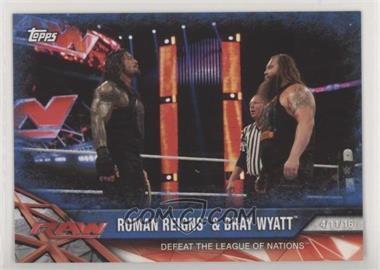 2017 Topps WWE Road to Wrestlemania - [Base] - Blue #77 - Roman Reigns & Bray Wyatt /99
