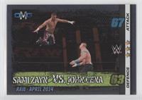 OMG Mirror Foil - Sami Zayn vs. John Cena