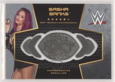 2017 Topps WWE Then Now Forever - Commemorative Championship Plates - Silver #SABA - Sasha Banks /25 [EXtoNM]