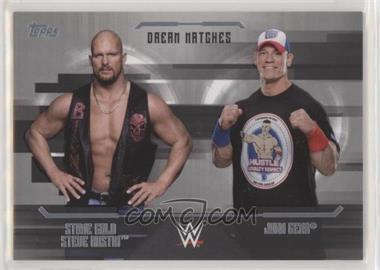 2017 Topps WWE Undisputed - Dream Matches - Silver #D-6 - John Cena, Stone Cold Steve Austin /50